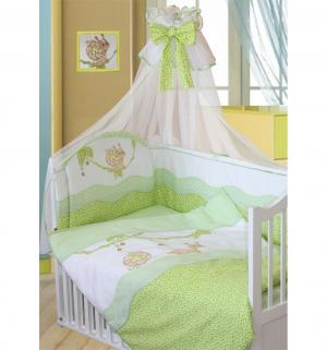 Комплект постельного белья  Улыбка, цвет: зеленый -
