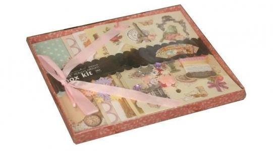 Фотоальбом с набором для скрапбукинга Кружева Color Kit