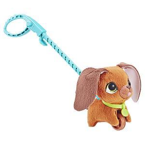 Мягкая игрушка FurReal Friends Маленький питомец на поводке Коричневая собака Hasbro