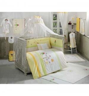 Балдахин Sunny Day 150 х 450 см, цвет: белый/желтый Kidboo