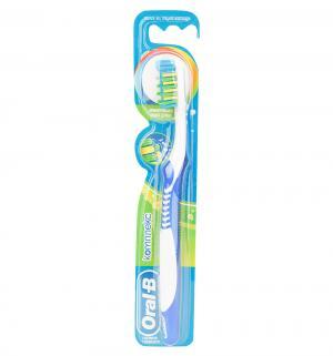 Зубная щетка  Комплекс средняя жесткость, цвет: синий Oral-B