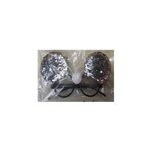 Карнавальные очки Fenix-present Серебристые пайетки Феникс-Презент