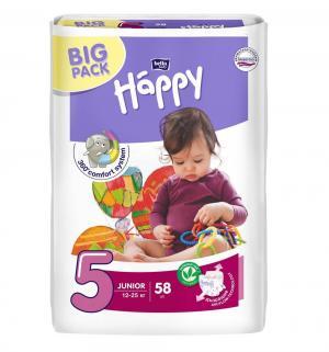 Подгузники  Baby Happy Junior 5 (12-25 кг) 58 шт. Bella