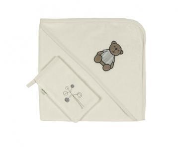 Комплект полотенце-уголок + варежка Little Bear Kidboo