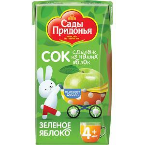 Сок  зелёное яблоко с 4 мес, 18 шт по 125 г Сады Придонья