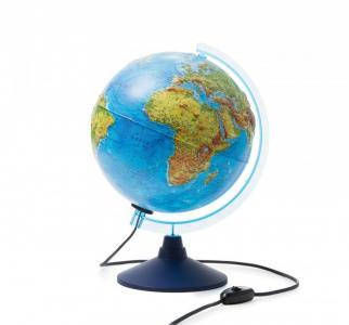 Глобус Земли физико-политический интерактивный с подсветкой D-250 мм Globen