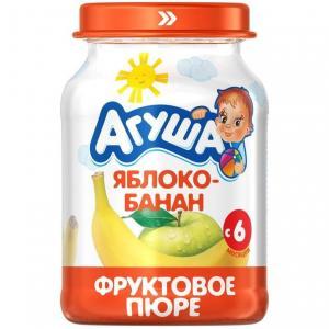 Пюре  яблоко-банан с 6 месяцев, 200 г Агуша