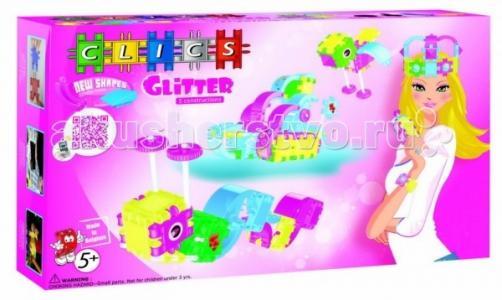 Конструктор  с блестками для девочек 100 деталей Clics