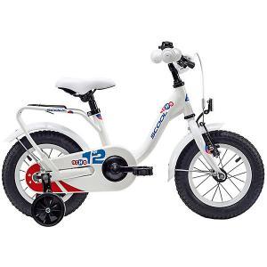 Двухколесный велосипед  NiXe 12 дюймов, белый Scool. Цвет: белый