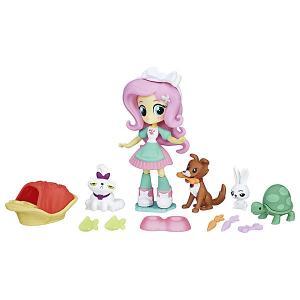Игровой набор с мини-куклой Equestria Girls Пижамная вечеринка, Флаттершай Hasbro