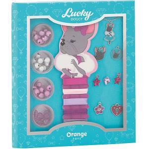 Набор для создания украшений  Lucky Doggy Бульдог Orange. Цвет: бирюзовый