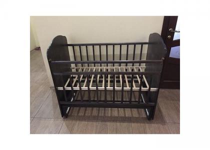 Детская кроватка  Золушка 10 без ящика (поперечный маятник) Агат