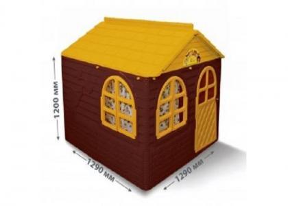Домик детский квадратный с карнизами и шторками Doloni