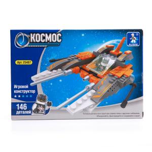 , Конструктор пластиковый Космический корабль с фигуркой, 146дет. Ausini