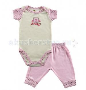 Комплект Боди короткий рукав и штанишки Органик (2 предмета) Hudson Baby