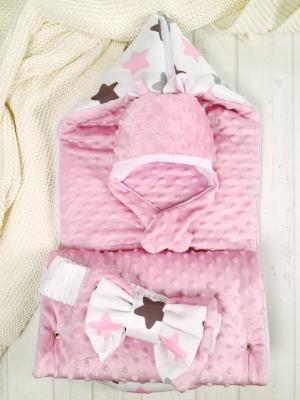 Конверт Звезды с шапочкой Мишка, цвет: розовый Супермамкет