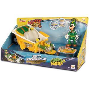Игровой набор  Микки и весёлые гонки Автомобиль Гуфи, 2 в 1 IMC Toys. Цвет: gelb/grün