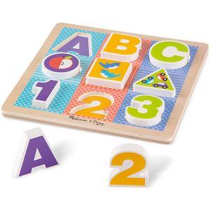 Рамка-вкладыш  Буквы и цифры Melissa & Doug