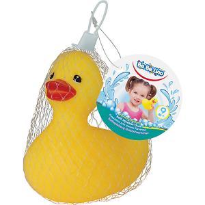 Игрушка для ванны  Уточка-пищалка Bebelino. Цвет: желтый