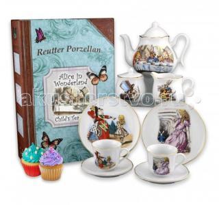 Детский чайный сервиз Алиса в стране чудес подарочном кофре-книжке на 2 персоны Reutter Porzellan
