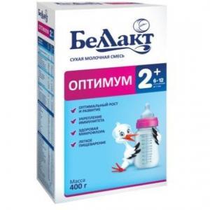 Молочная смесь  Оптимум 2+ с 6 месяцев, 400 г Беллакт