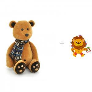 Мягкая игрушка  Медвежонок Медок в Шарфике и комфортер Forest Лев Orange