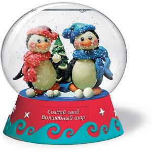 Набор для творчества  Создай Волшебный шар Пингвины Magic Moments. Цвет: разноцветный