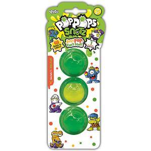 Игровой набор  PopPops Snotz, 3 шт Yulu. Цвет: зеленый