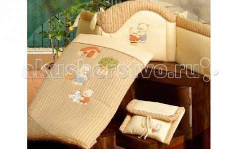 Одеяло  Biba - полулегкое с вышивкой наволочкой BabyPiu