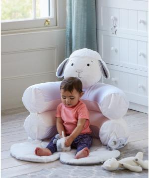 Коврик-кресло  С первых дней Овечка, цвет: белый Mothercare