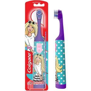 Электрическая зубная щетка  Barbie супермягкая, на батарейках Colgate