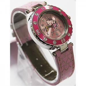 Часы  наручные аналоговые с подсветкой Hello Kitty