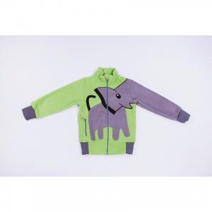 Толстовка  Слон ЛисФлис. Цвет: зеленый