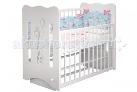 Детская кроватка  Руслана-2 Жирафик Laluca (маятник поперечный) Можгинский лесокомбинат