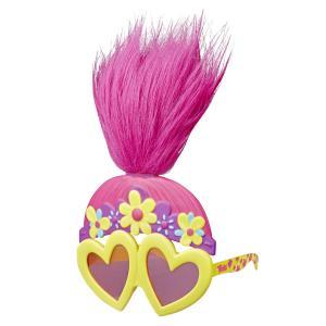 Набор  маска-очки, желтые сердечки, розовые стекла Trolls
