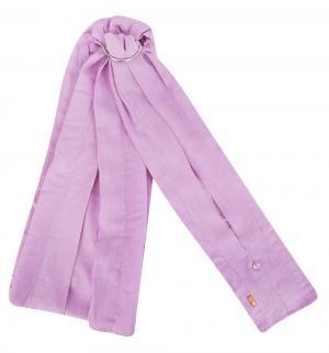 Слинг с кольцами  Лен кольцами, цвет: розовый Чудо-Чадо
