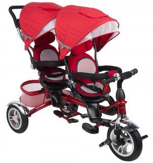 Детский трехколесный велосипед  Twin Trike 360, цвет: красный Capella