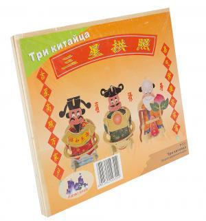 Деревянный конструктор  Три китайца Wooden Toys