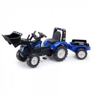 Трактор-экскаватор педальный с ковшом и прицепом Falk