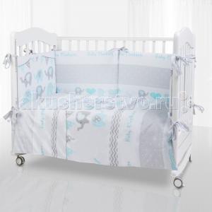 Комплект в кроватку  Elephant (6 предметов) Eco Line
