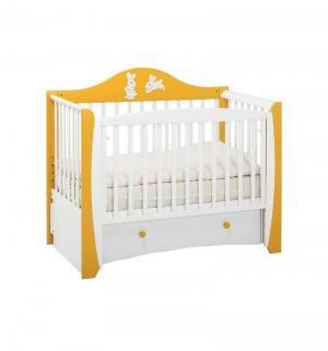 Кровать  Olivia, цвет: шафран/белый Papaloni
