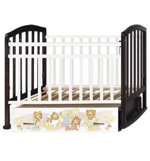 Кровать  Алита 4 Медвежата, цвет: белый/венге Антел