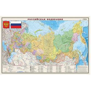 Карта РФ, Полит-административная, 1:9,5М Издательство Ди Эм Би
