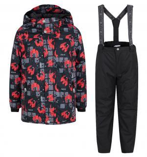 Комплект куртка/полукомбинезон  Галактика, цвет: черный Reike