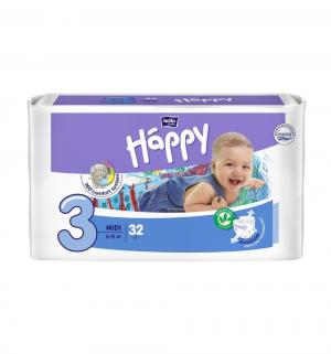 Подгузники  Midi 3 (5-9 кг) 32 шт. Bella Baby Happy