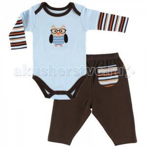 Комплект Боди длинный рукав и штанишки Сова (2 предмета) Hudson Baby