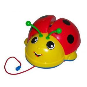 Каталка-игрушка  на веревочке Божья коровка 09376 Molto