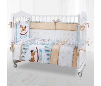 Комплект в кроватку  Horse (6 предметов) Eco Line