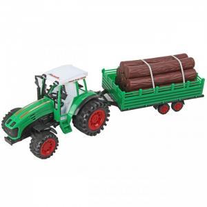 Машина инерционная Трактор с прицепом бревнами Veld CO