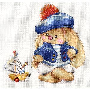 Набор для вышивания  Зайка Ми Моряк 14х14 см Алиса